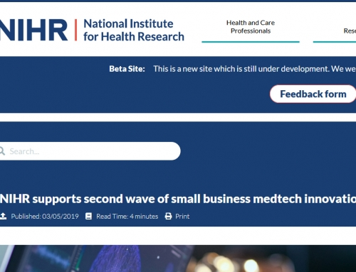 NIHR supports second wave of small business medtech innovations